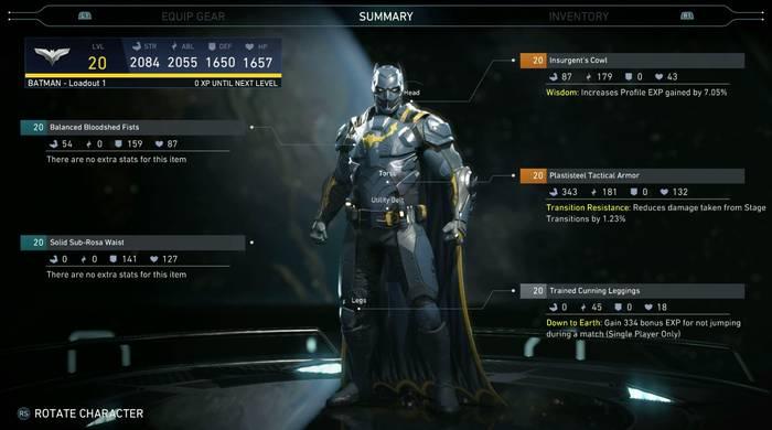Hero Gear System Database