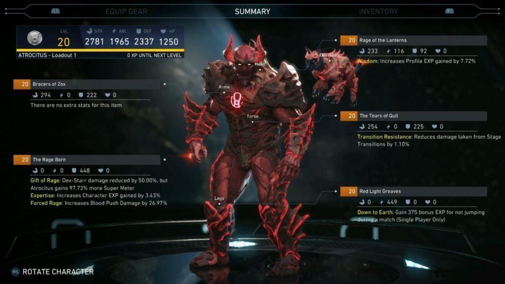 Villain Gear System Database