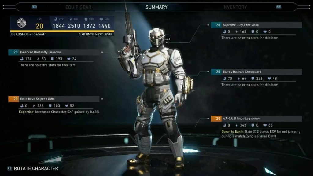 DLC Characters Gear Directory