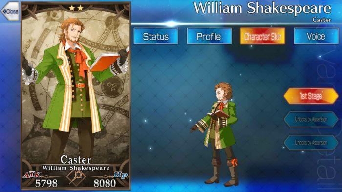 FGO William Shakespeare