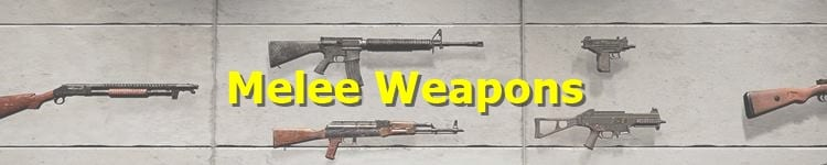 PUBG Melee Weapons