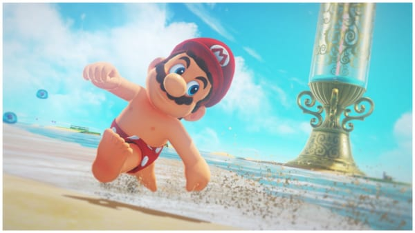 A screenshot featuring Shirtless Mario.