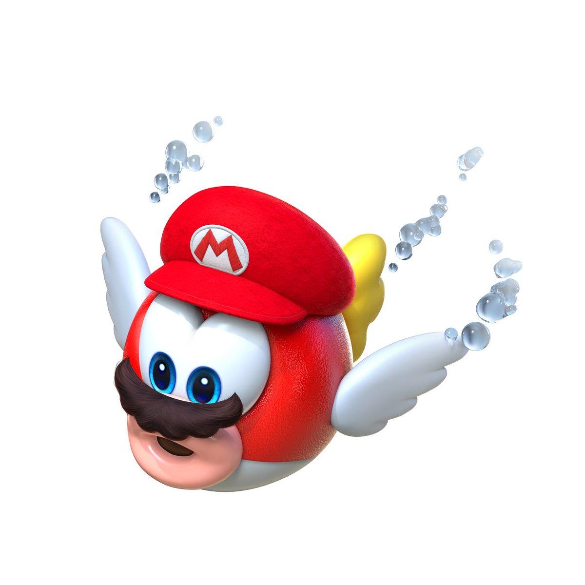 Super mario odyssey cheep cheep captured enemy data for Mario go fish