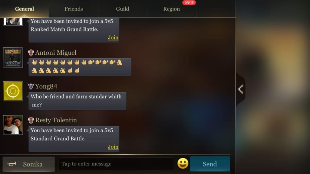 Arena of Valor Messages