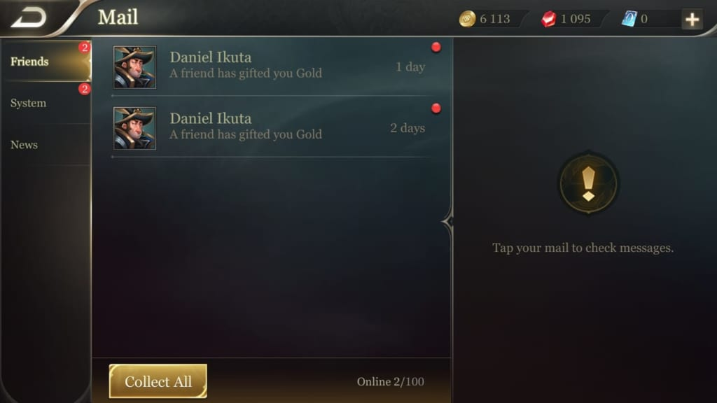 Arena of Valor Mail