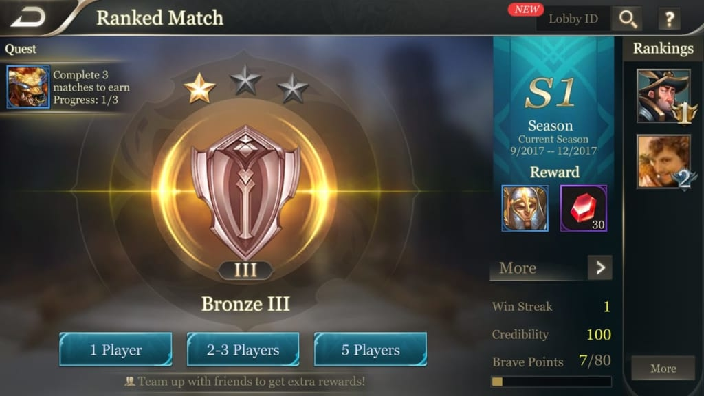 Arena of Valor Ranked Match