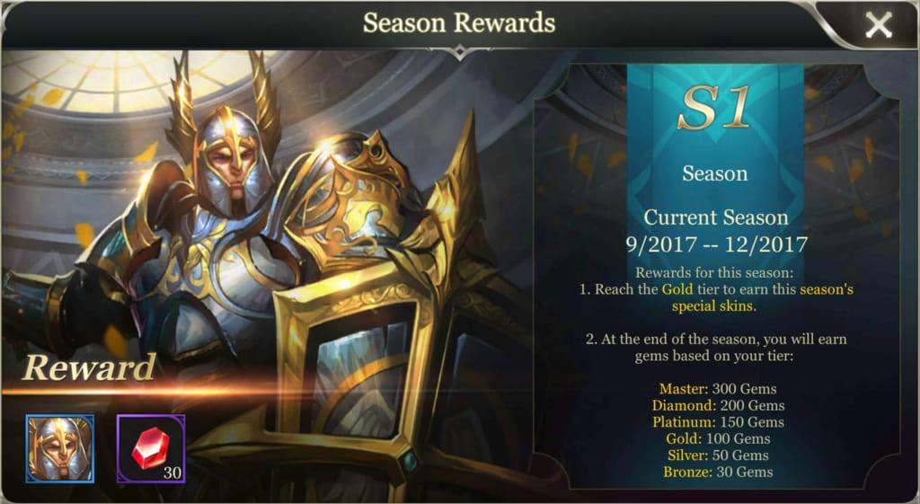 Arena of Valor Season Rewards