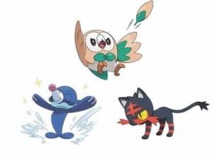Gen 7 Starter Pokemon: