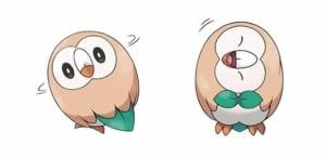 Gen 7 Starter Grass-type Pokemon: Rowlet