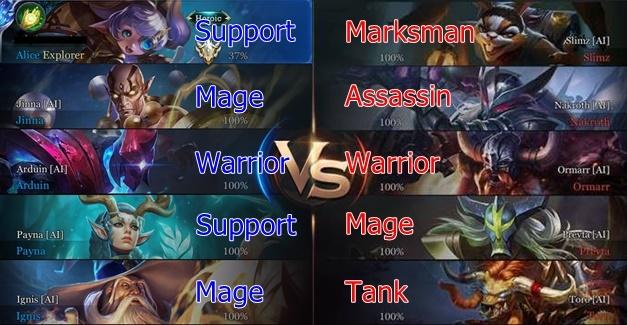 Arena of Valor Balanced Team