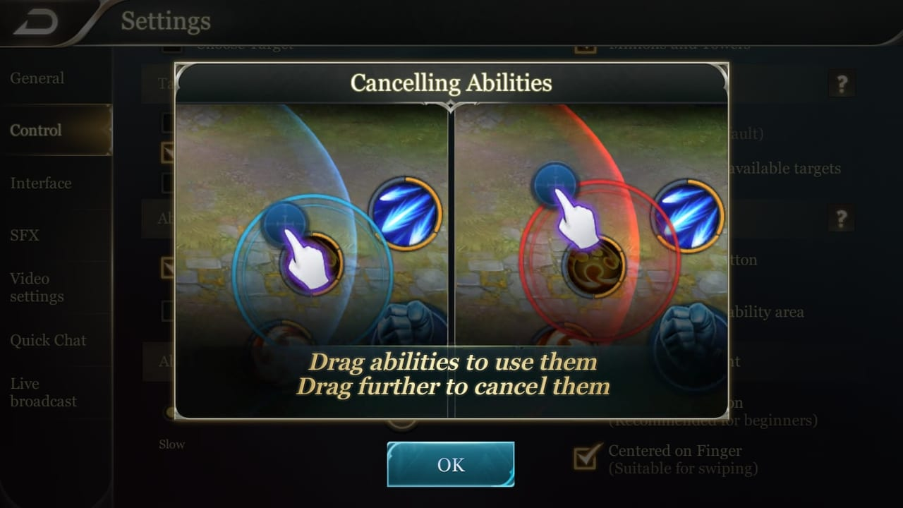 Arena of Valor Ability Cancelling