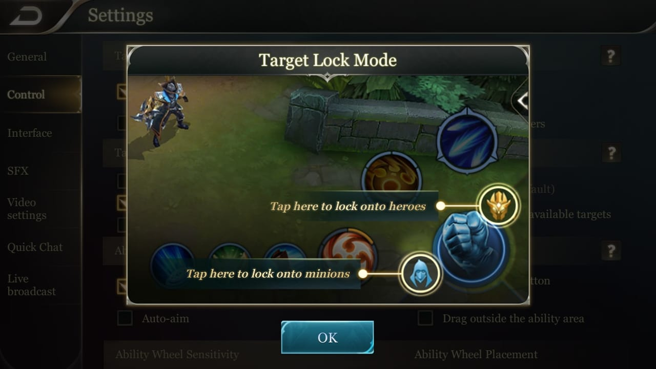 Arena of Valor Target Lock Mode