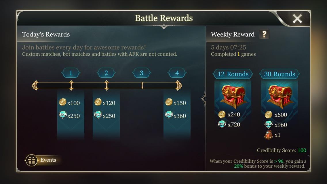 Arena of Valor Battle Rewards