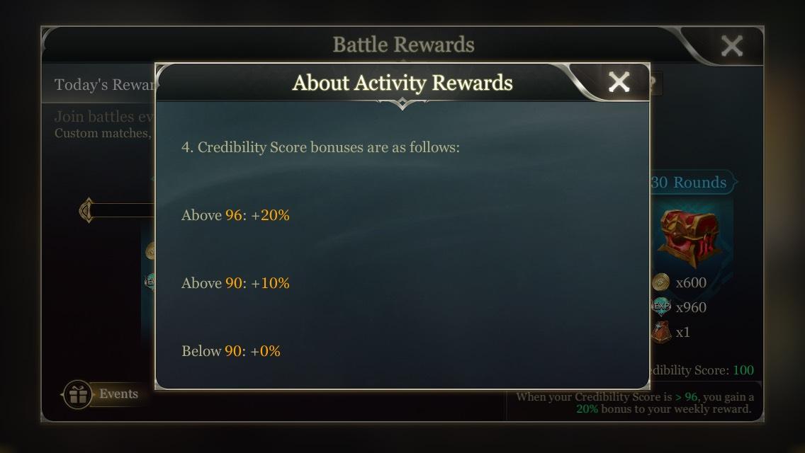 Arena of Valor Activity Rewards