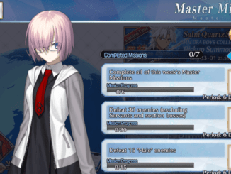 FGO Master Missions - February 26 ~ March 3