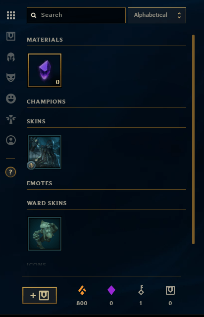 league of legends loot page