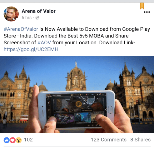 arena of valor india release