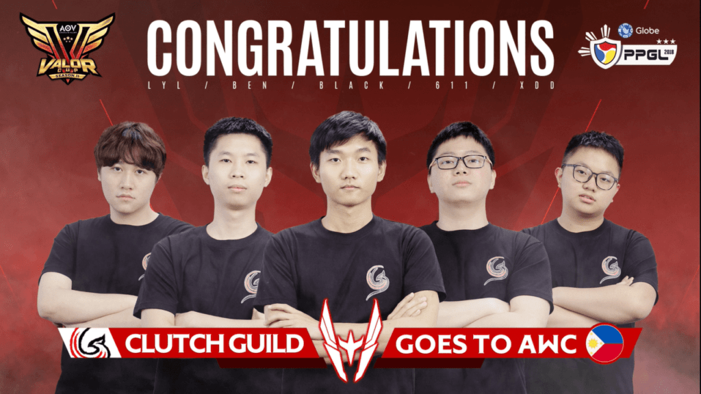 Clutch Guild Goes To Arena Of Valor Wolrd Cup Awc
