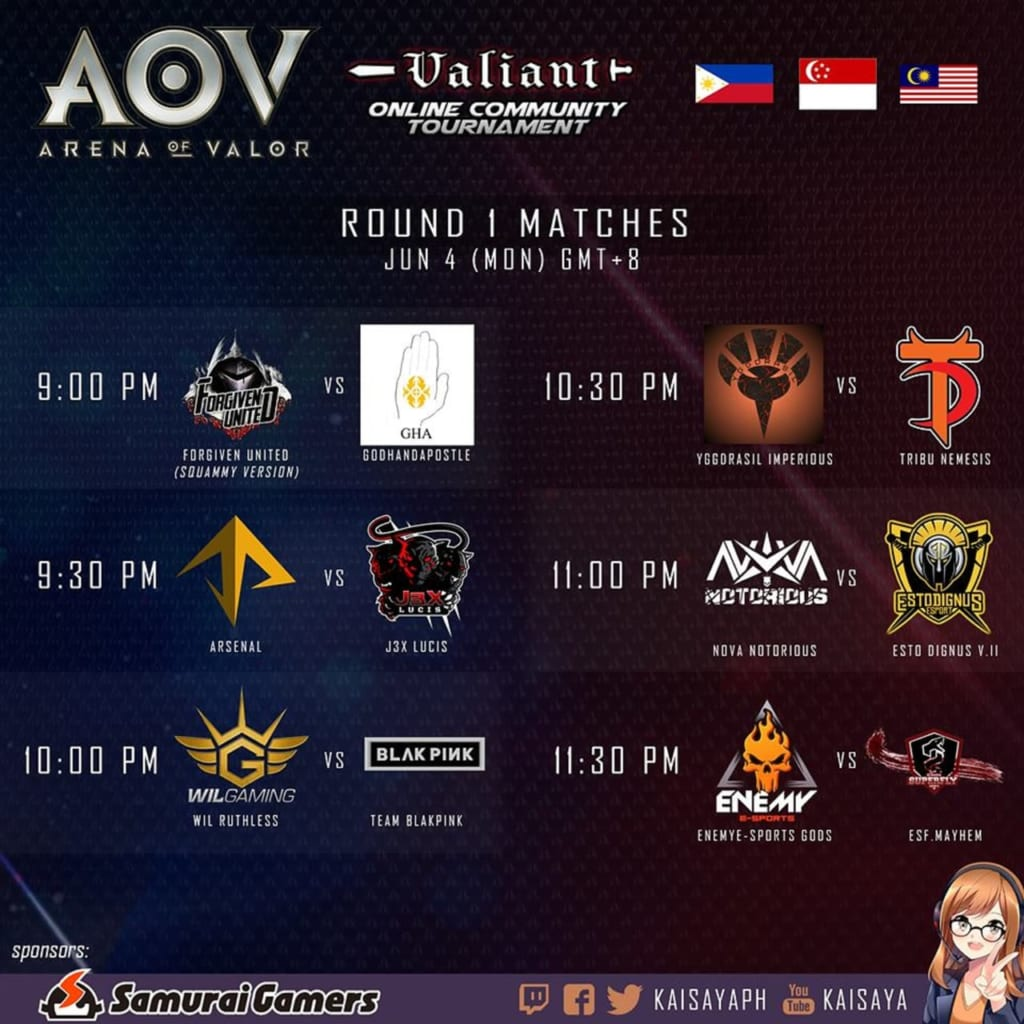 Week 1 AOV Valiant Online Community Tournament