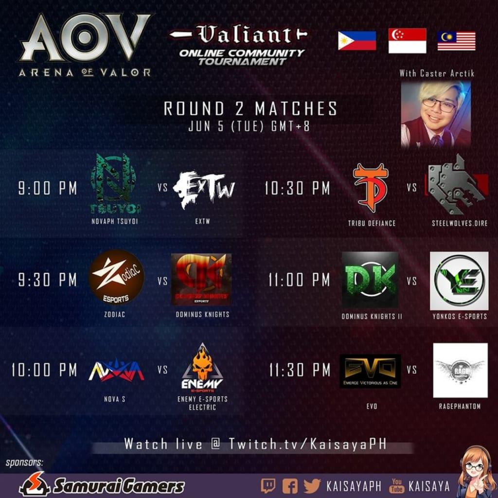 AOV Valiant Online Community Tournament Day 2