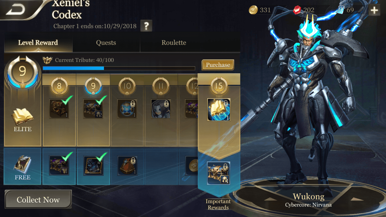Arena Of Valor Aov What Are Aov Prime And Xeniels Codex And Are They Worth It Samurai Gamers