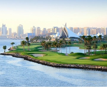 Dubai Creek Golf & Yacht Club, voted one of the world's