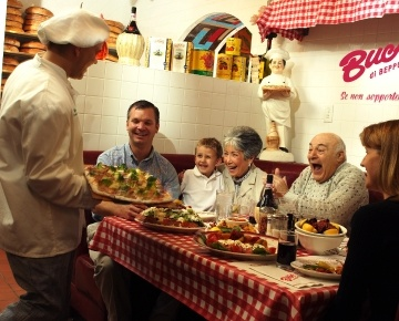 Buca Di Beppo Serves Authentic Italian Family Style Meals In An Eclectic And Vintage Setting