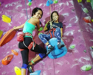 Keeping fit while having fun! Itchy to try your hands on the sport but don't know where or how to start? Ground Up Climbing is the right place for you. With the assortment of colourful climbing holds strewn all over our climbing walls, it's hard not to put your hands all over them. Rock climbing is so much fun that you will not see it as a form of sports.