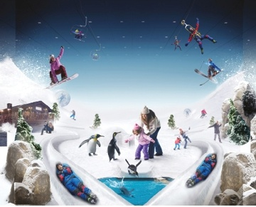 Ski Dubai is the first indoor ski resort in the Middle East and offers an amazing snow setting to enjoy skiing, snowboarding and tobogganing, or just playing in the snow. Young or old, there is something for everyone, from the beginner to the snow sports enthusiast. Ski Dubai is a unique mountain-themed attraction that offers you the opportunity to enjoy real snow in Dubai all year round.