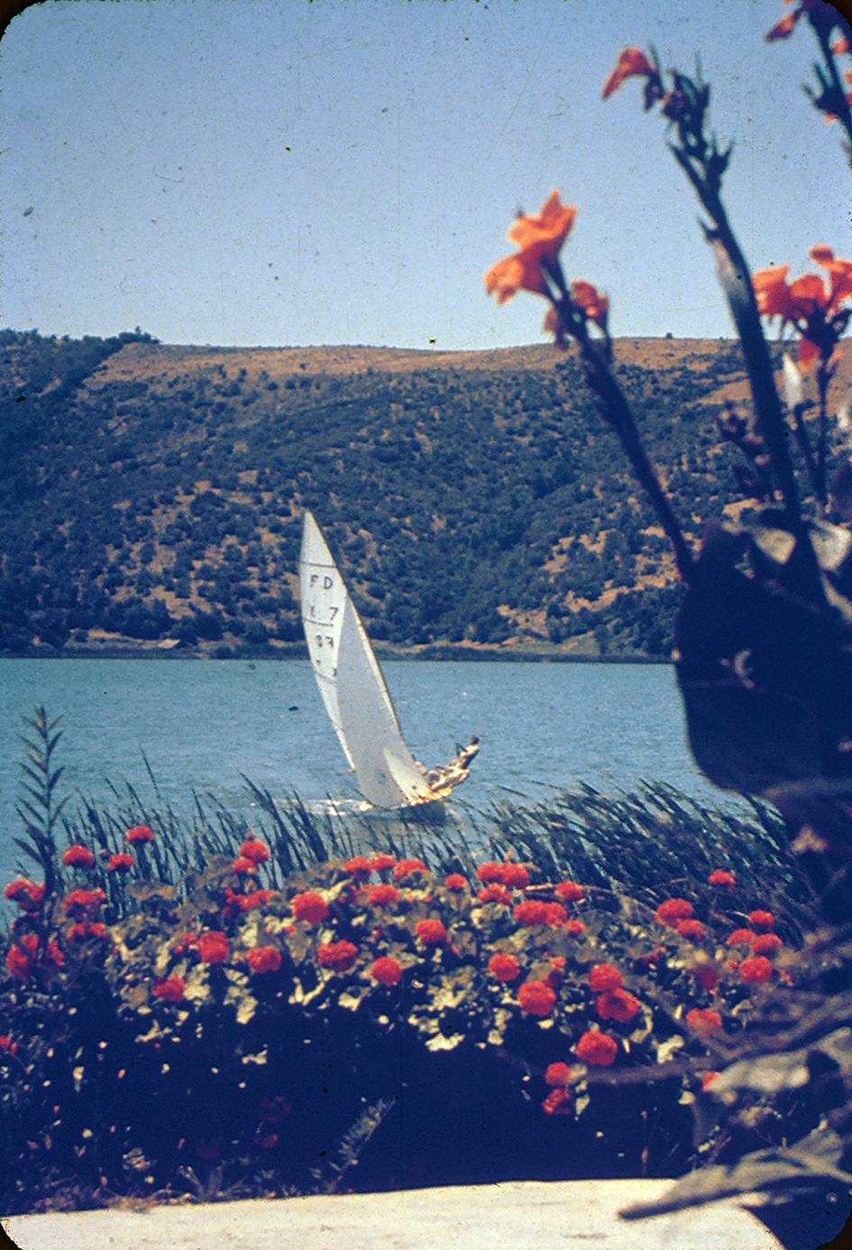 Enterreno - Fotos históricas de chile - fotos antiguas de Chile - Lago Vichuquen, 1960s