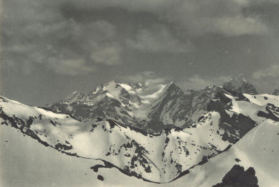 Enterreno - Fotos históricas de chile - fotos antiguas de Chile - Nevado Los Leones en 1932