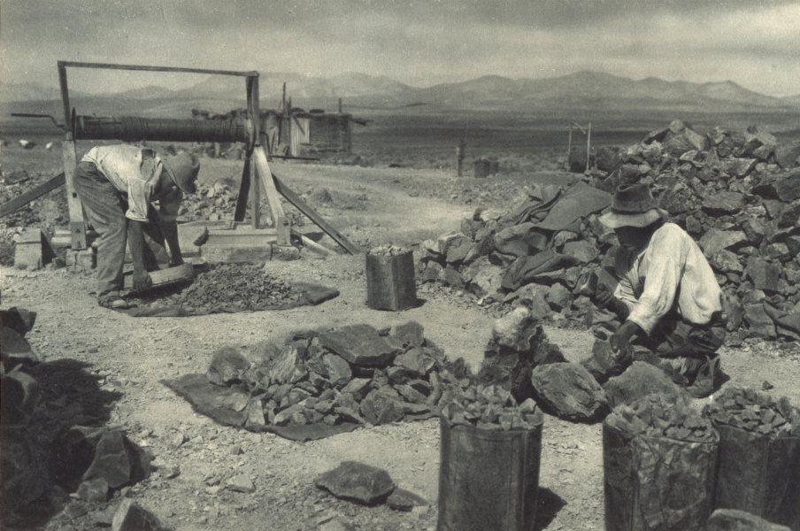 Enterreno - Fotos históricas de chile - fotos antiguas de Chile - Mina de Merceditas en 1932