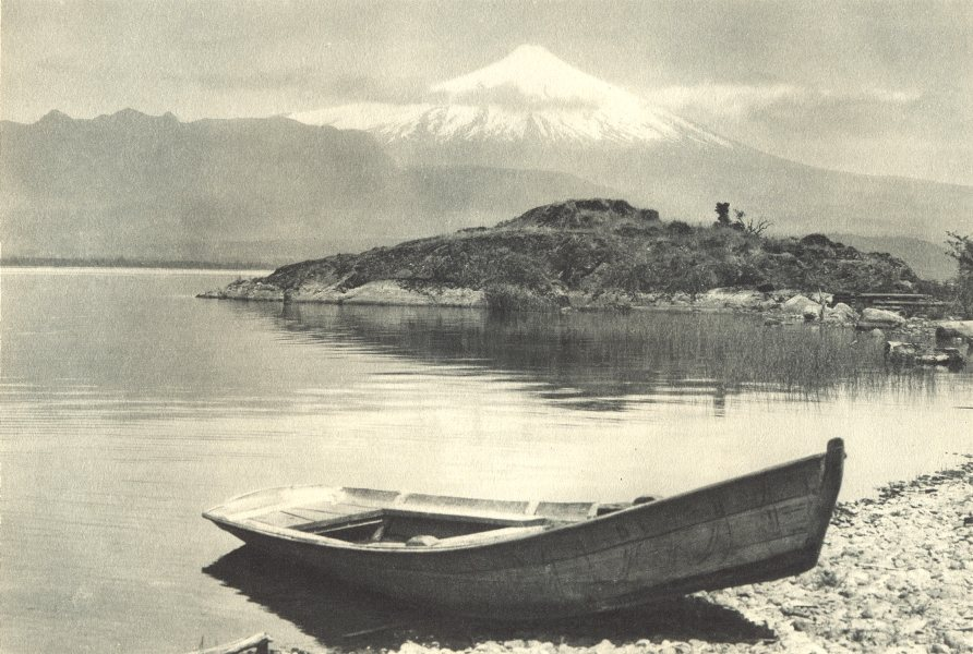 Enterreno - Fotos históricas de chile - fotos antiguas de Chile - Lago Villarrica en 1932