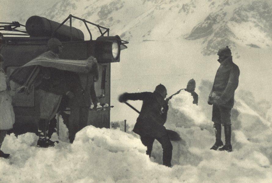 Enterreno - Fotos históricas de chile - fotos antiguas de Chile - Ferrocarril trasandino en 1932