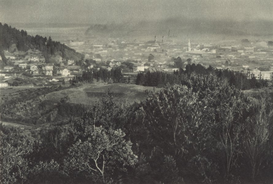 Enterreno - Fotos históricas de chile - fotos antiguas de Chile - Panorámica de Concepción en 1932