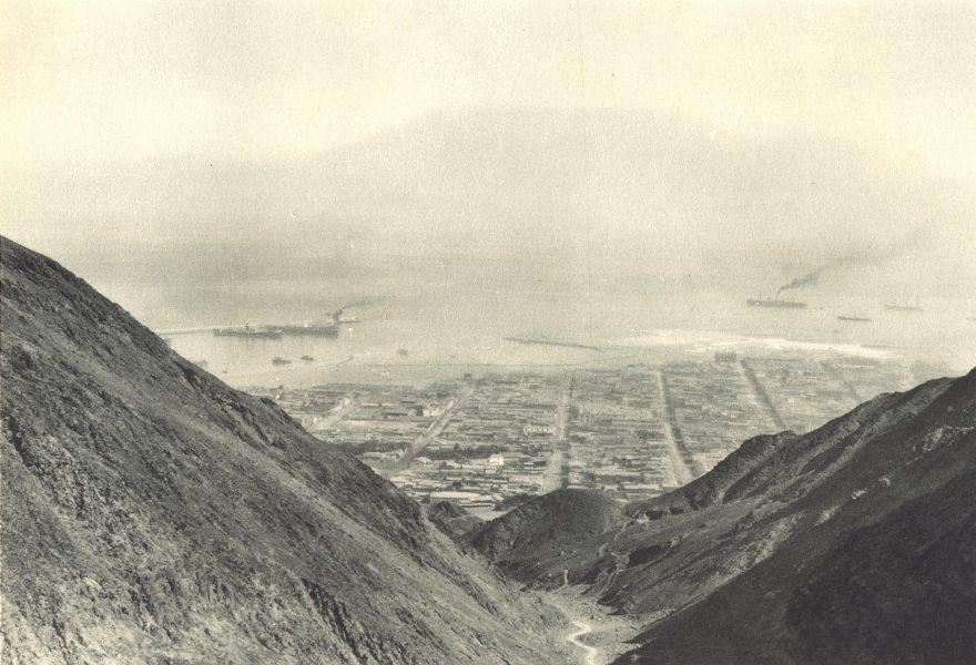 Enterreno - Fotos históricas de chile - fotos antiguas de Chile - Vista de Antofagasta en 1932