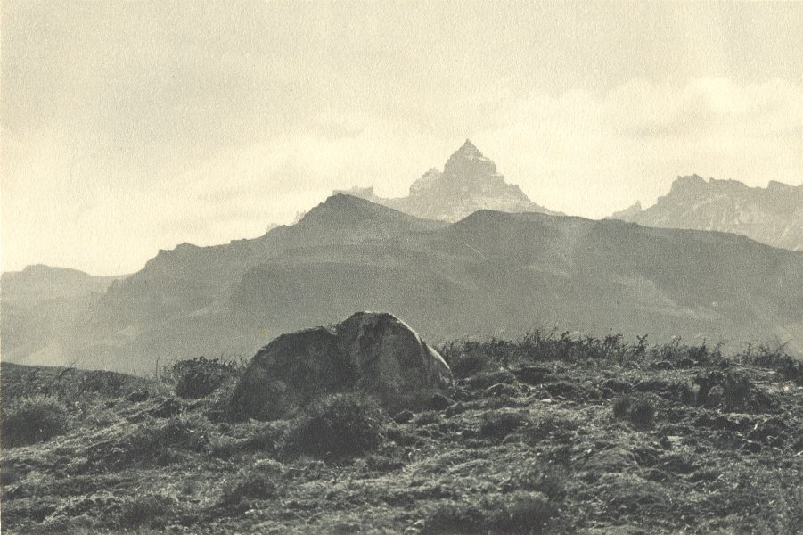 Enterreno - Fotos históricas de chile - fotos antiguas de Chile - Cerro Pináculo desde Chile en 1932