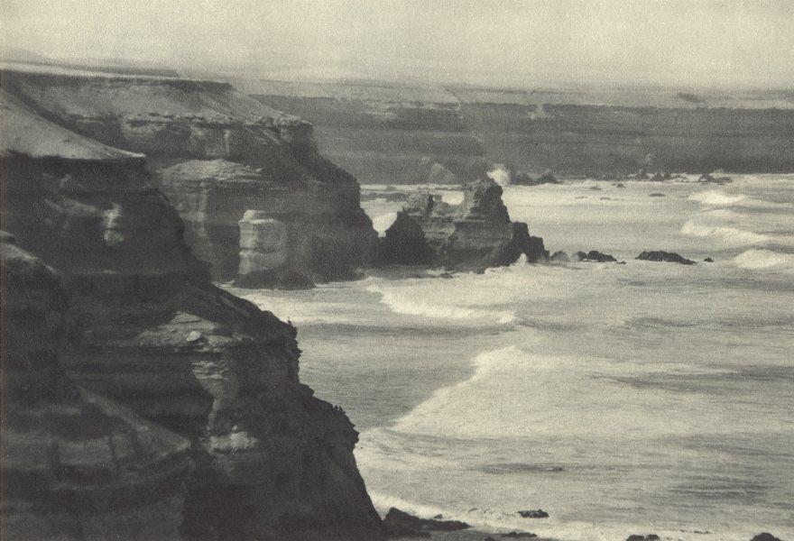 Enterreno - Fotos históricas de chile - fotos antiguas de Chile - Farellones costeros de Mejillones en 1932