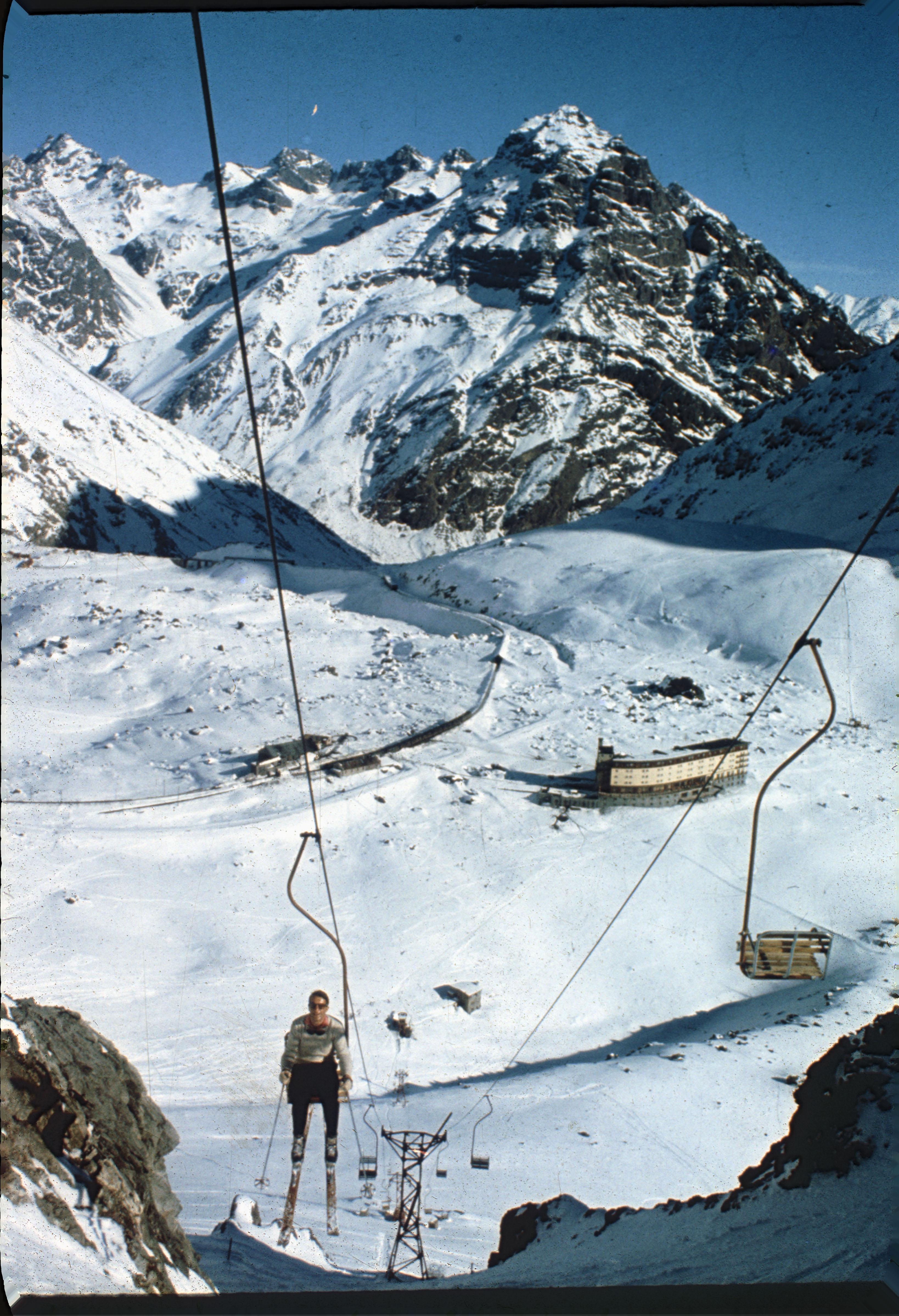 Enterreno - Fotos históricas de chile - fotos antiguas de Chile - Portillo en los 60
