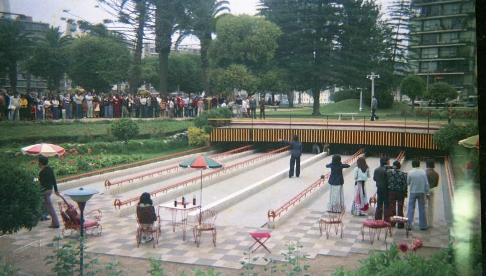 Enterreno - Fotos históricas de chile - fotos antiguas de Chile - Bowling de Peter Foral de Viña del Mar, 1974