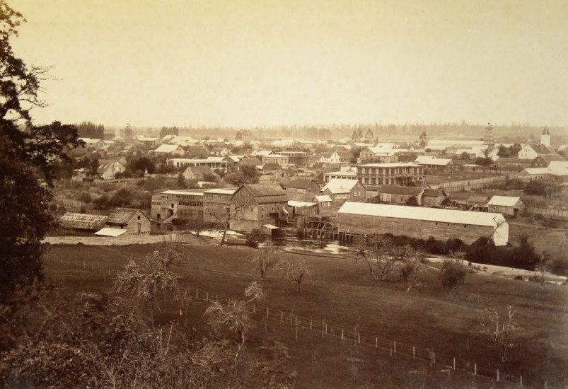 Enterreno - Fotos históricas de chile - fotos antiguas de Chile - Osorno desde Altos de Pilauco, 1893.