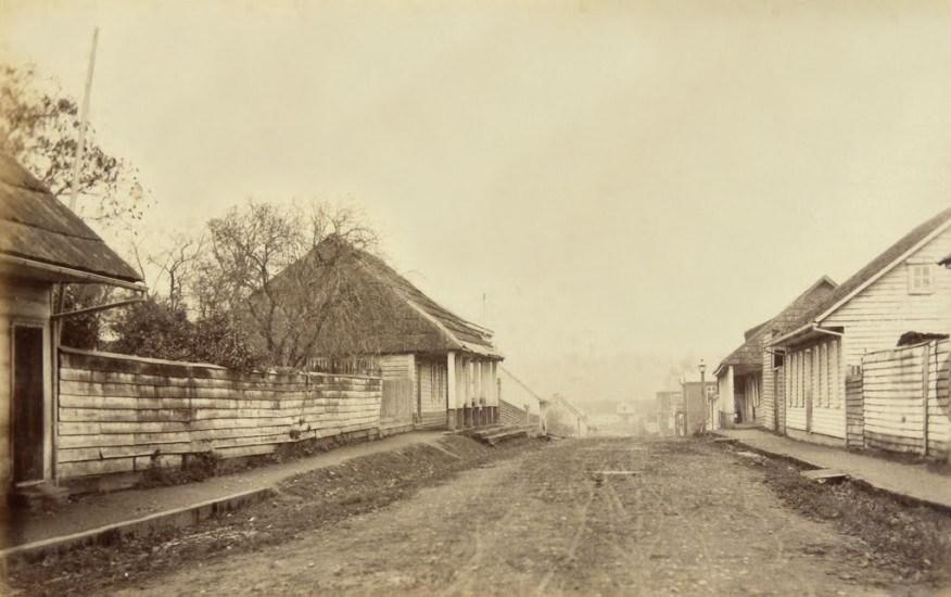 Enterreno - Fotos históricas de chile - fotos antiguas de Chile - Osorno, Calle Mackenna, 1893.