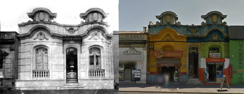 Enterreno - Fotos históricas de chile - fotos antiguas de Chile - Casona Pérez Cangas, Recoleta 1915 y 2013