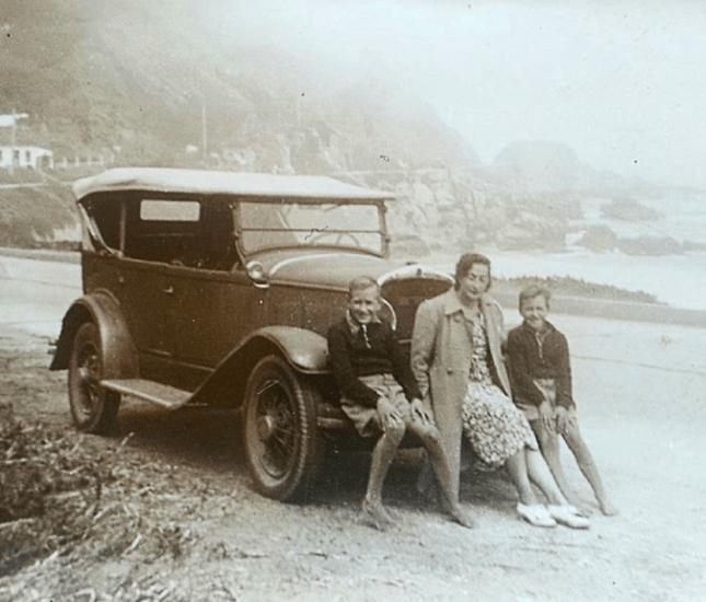 Enterreno - Fotos históricas de chile - fotos antiguas de Chile - Llegando a Reñaca, 1936