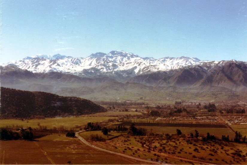 Enterreno - Fotos históricas de chile - fotos antiguas de Chile - Sector de La Dehesa, 1984