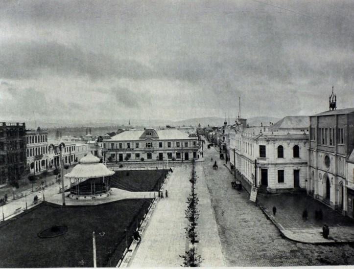 Enterreno - Fotos históricas de chile - fotos antiguas de Chile - Plaza de Armas de la ciudad de Valdivia en 1915