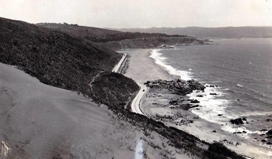 Enterreno - Fotos históricas de chile - fotos antiguas de Chile - Playa de Reñaca en 1920