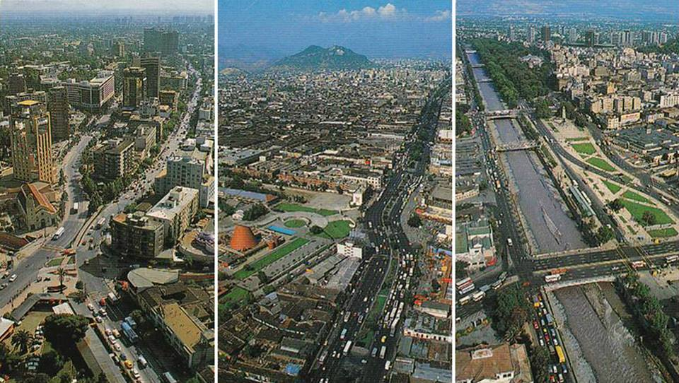 Enterreno - Fotos históricas de chile - fotos antiguas de Chile - Vista de Santiago en 1989