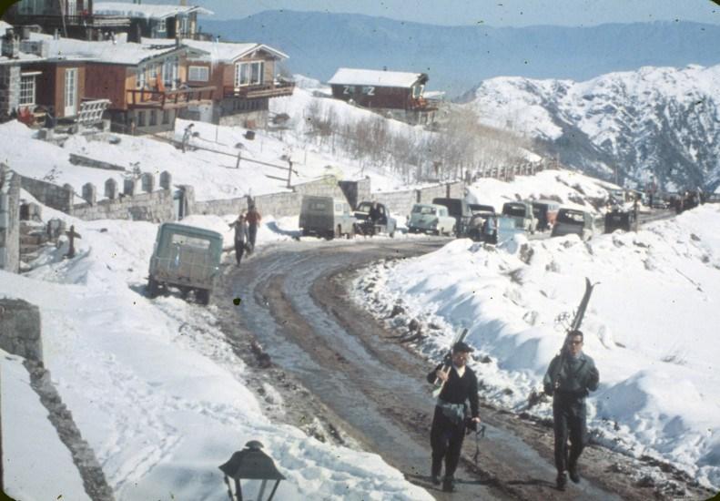 Enterreno - Fotos históricas de chile - fotos antiguas de Chile - Farellones en la década de 1960
