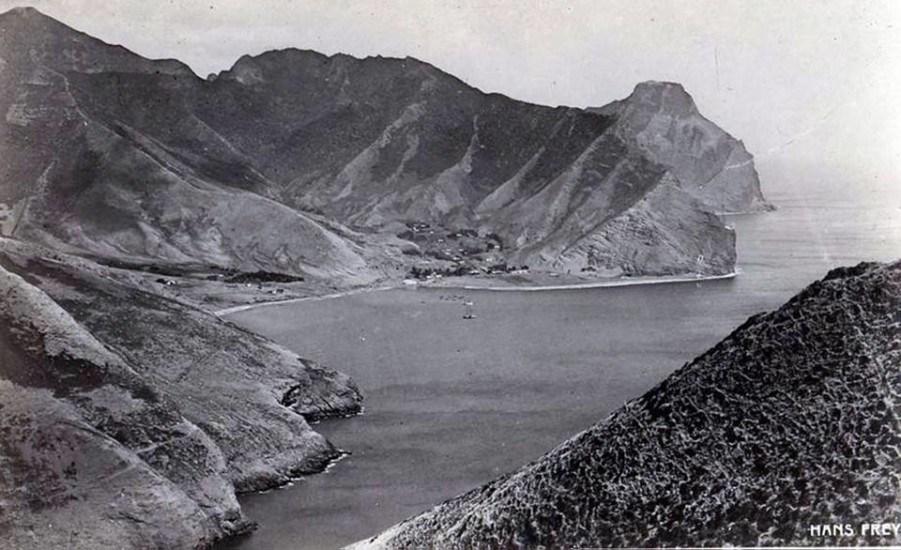 Enterreno - Fotos históricas de chile - fotos antiguas de Chile - Bahía Cumberland a principios de Siglo XX